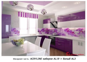 кухни с фасадами Акрил acryline(Австрия)