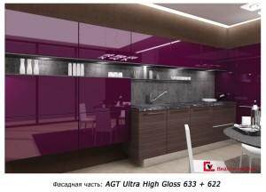 кухни с фасадами из AGT Ultra High Gloss (Турция)