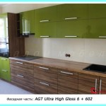 кухни с фасадами из AGT Ultra High Gloss (Турция)