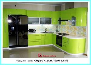 кухни с фасадами из пластика HPL (Италия,Россия)