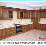 Кухни с фасадами из ценных пород дерева бука и ясеня