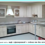 кухни с фасадами из МДФ + плёнка пвх