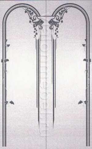 пескоструйные рисунки для 2 дверей