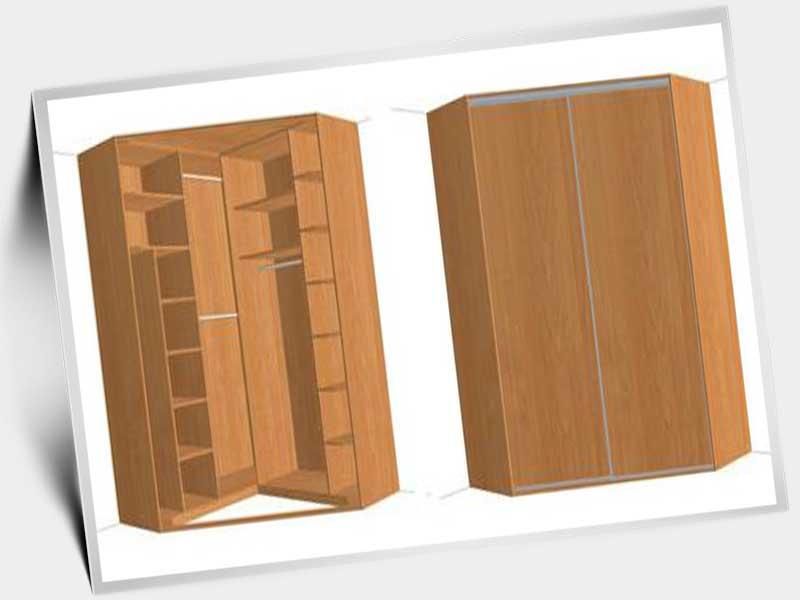 дизайн углового шкафа купе