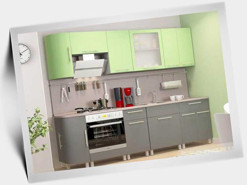 Кухни зелёного цвета