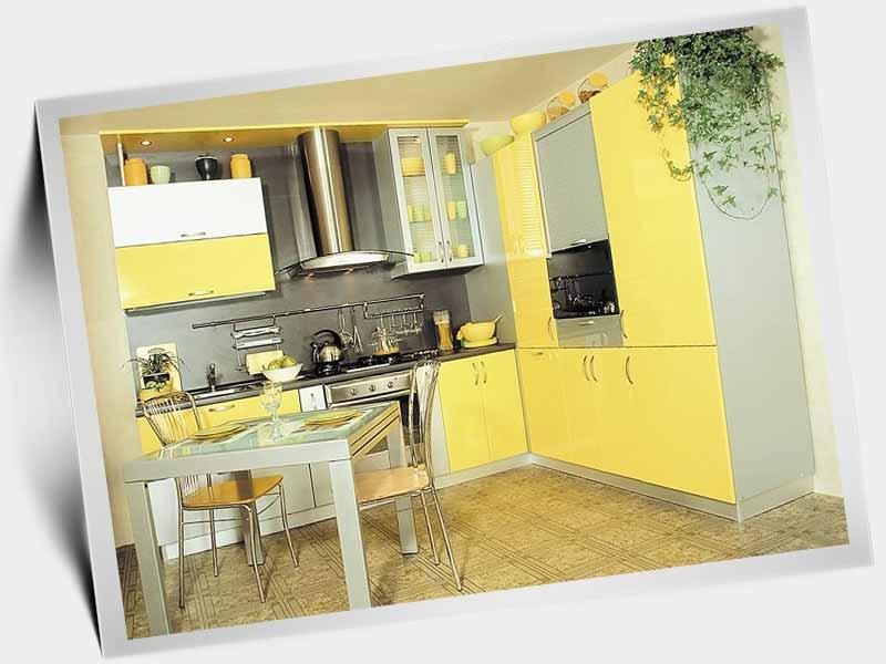 кухня жёлтого цвета